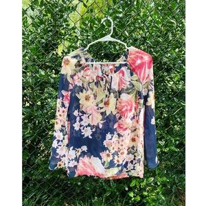 New York and Company Floral Blouse